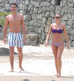Jessica Alba and Cash Warren walked along the sand in St. Barts in April while vacationing with a few friends.