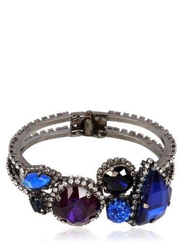 Purple And Blue Crystal Bracelet