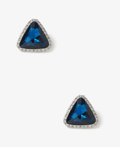 FOREVER 21 Faux Gem Triangle Studs