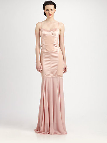 Nicole Miller Paneled Gown
