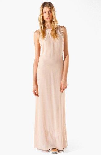 maje 'Armance' Macrame Maxi Dress