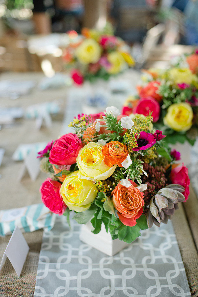 Bright Brunch Photo by Brandi Welles via Style Me Pretty