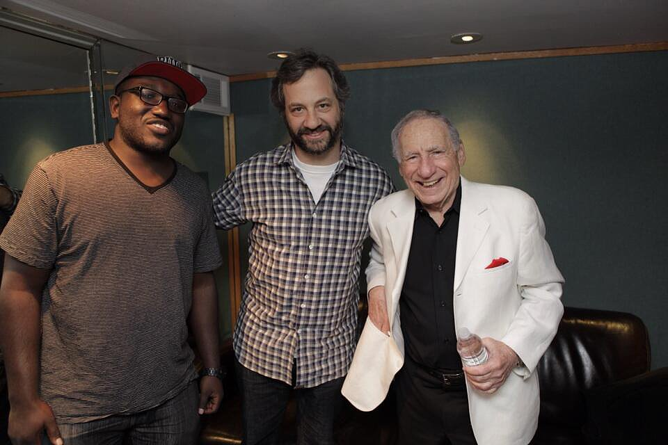 Judd Apatow hung out with comedian Hannibal Buress and the legendary Mel Brooks. Source: Twitter user JuddApatow