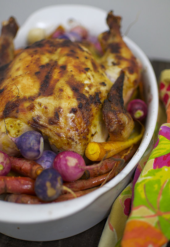 Spring Roast Chicken With Radishes