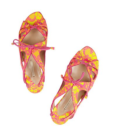 Nicholas Kirkwood's lace-up sandals ($348, originally $995) are such a cute way to bring attention to your new pedicure — we love the girlie print.