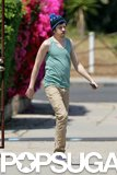Zac Efron's costar Christopher Mintz-Plasse was on set in LA as well.