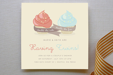 Double Cupcake Invitations