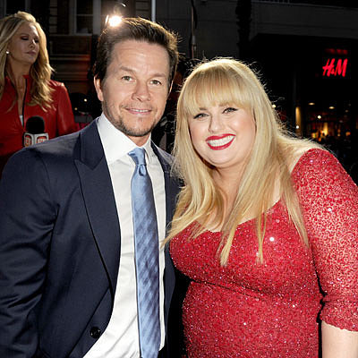 Mark Wahlberg and Rebel Wilson at Pain & Gain LA Premiere