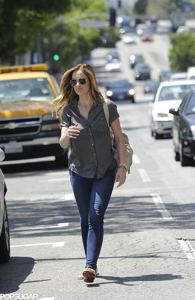 Minka Kelly dyed her hair blond over the weekend in LA and showed off the results on Monday.