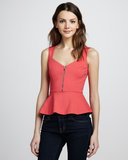 This Erin Fetherston Zip-Front Peplum Top ($195) is equal parts girlie and just a little sexy, thanks to the flared waist and zippered neckline.