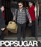 Robert Pattinson left his NYC hotel.