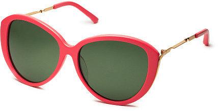 Linda Farrow for Prabal Gurung Coral Sunglasses
