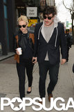 Carey Mulligan and Marcus Mumford stopped for lunch in NYC.