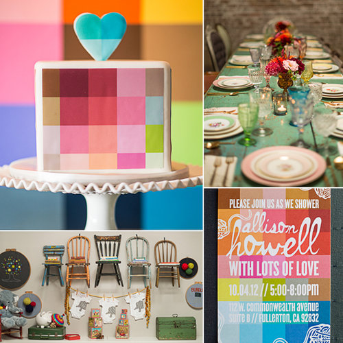 A Vintage-Cool, Color-Filled Baby Shower