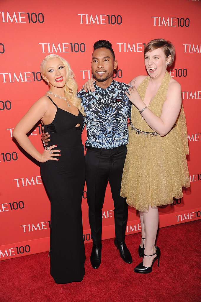 Christina Aguilera, Miguel and Lena Dunham