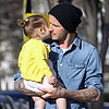 David Beckham Kissing Daughter Harper Beckham | Photos