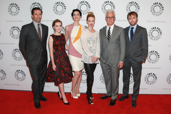 Jon Hamm, Kiernan Shipka, Jessica Paré, January Jones, John Slattery, and Vincent Kartheiser attended a Mad Men panel discussion in NYC.
