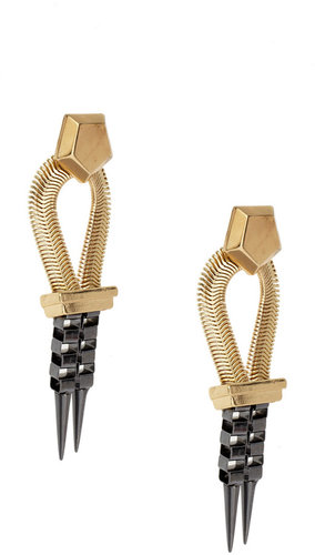 ASOS Statement Box Chain Spike Earrings