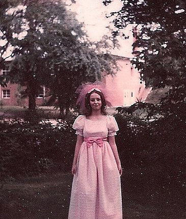 This 1969 bridesmaid was pretty in pink.  Source: Flickr user Pennelainer