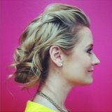 A Romantic Updo For Shoulder-Length Hair