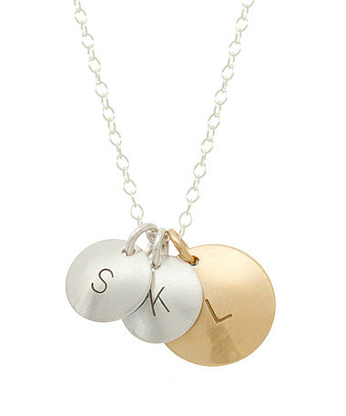 Anna Bee Jewelry Three Circle Initial Necklace