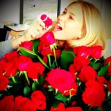 Bar Refaeli got a special flower delivery. Source: Instagram user barrefaeli