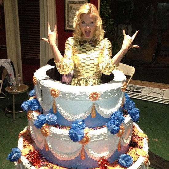Jaime King rocked on (bakery-style) on the set of Hart of Dixie. Source: Instagram user jaime_king