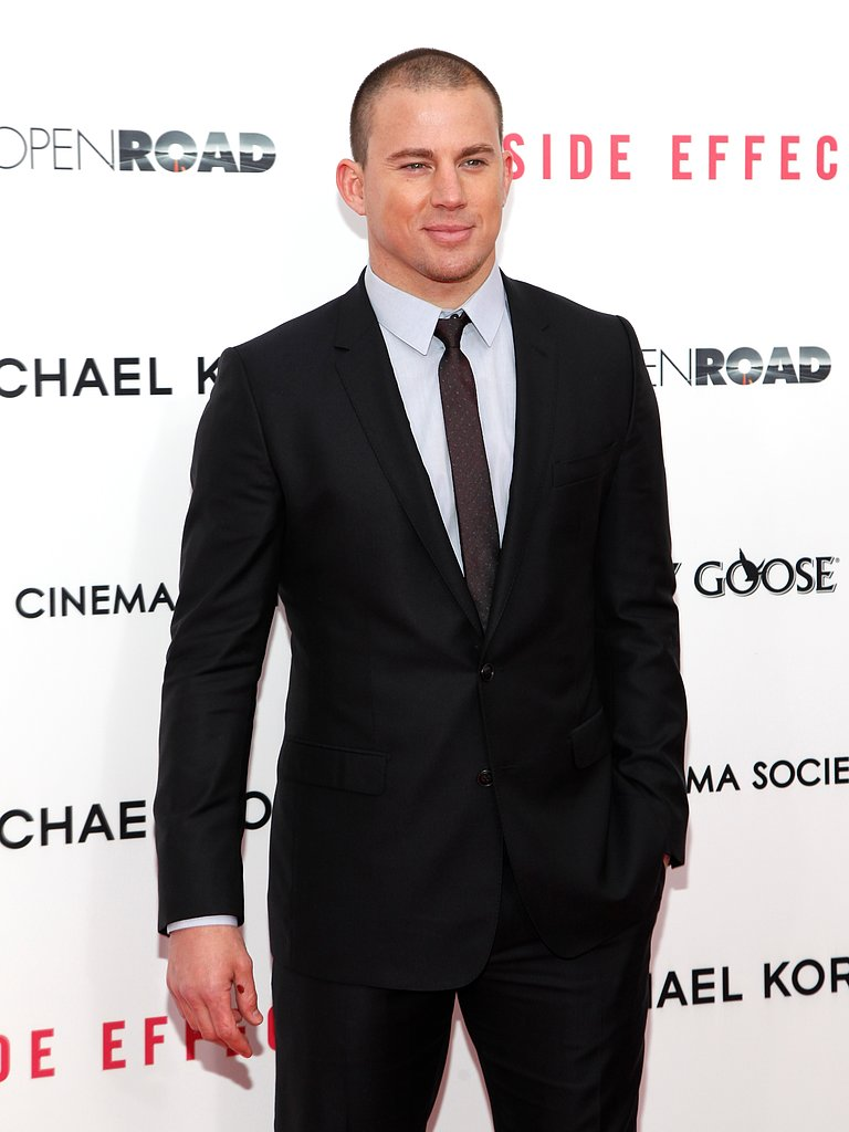 Channing Tatum got hot for the cameras at a January 2013 event for Side Effects in NYC.