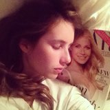 Emma Roberts slept with her Gwyneth Paltrow-covered issue of Harper's Bazaar. Source: Instagram user emmaroberts6