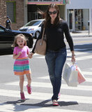 Jennifer Garner held Seraphina Affleck's hand in LA.