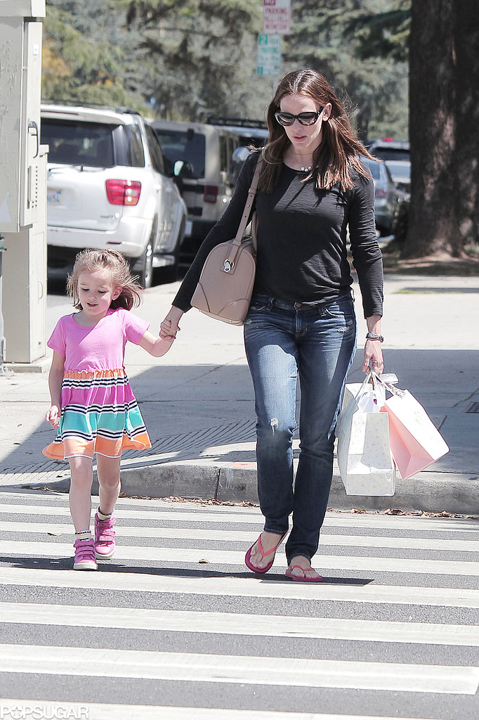 Jennifer Garner took her daughter Seraphina Affleck shopping in LA.
