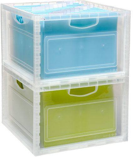 Stacking File &amp; Storage Crate