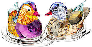 Swarovski Collectible Figurine, Topaz Mandarin Ducks