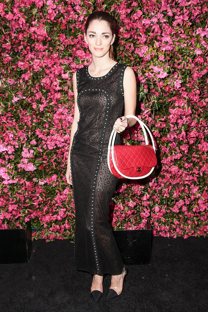 Sofia Sanchez Barrenechea wore Pre-Spring 2013 Chanel and carried a Spring 2013 Chanel hula-hoop bag. Source: Matteo Prandoni/BFAnyc.com