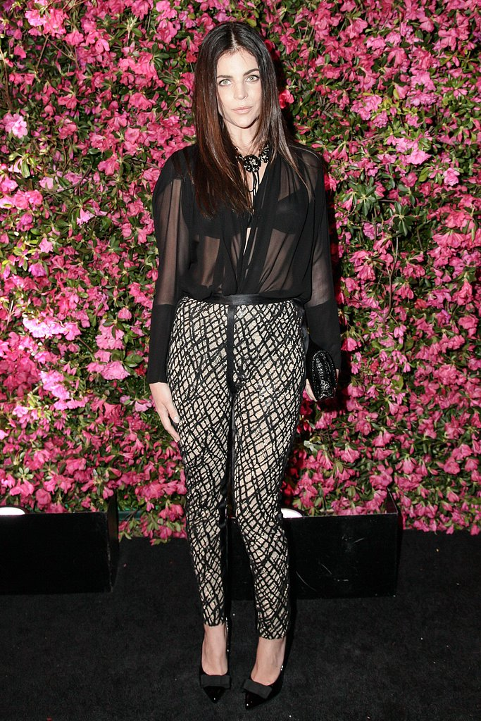 Julia Restoin Roitfeld wore Fall 2012 Chanel trousers. Source: Matteo Prandoni/BFAnyc.com