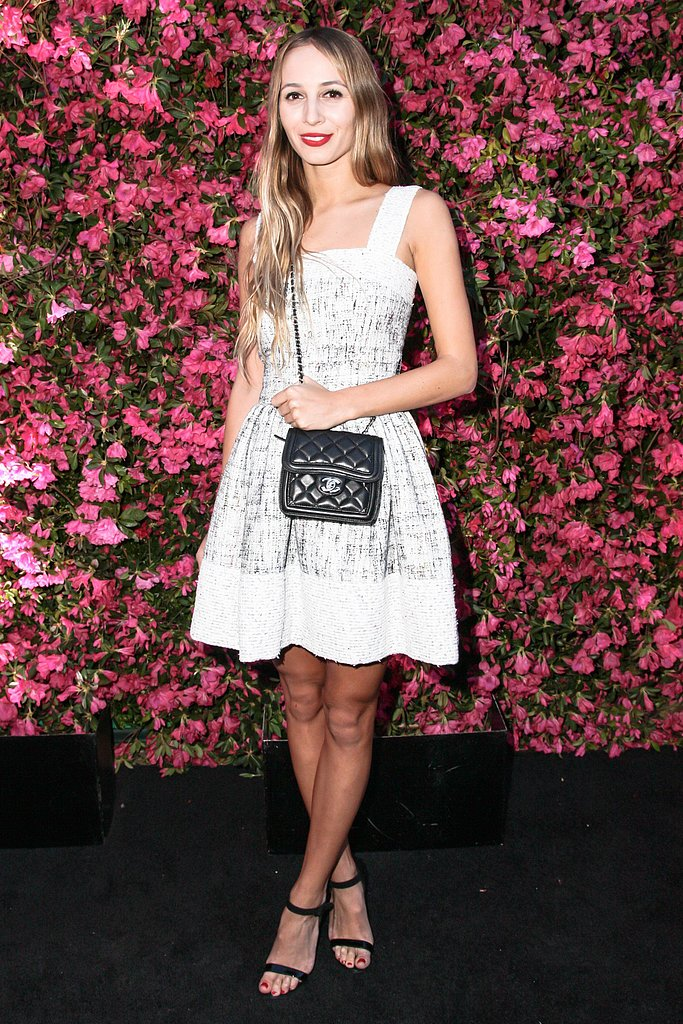 Harley Viera-Newton wore a dress and sandals from Chanel's Spring 2013 collection and a bag from Chanel's Fall 2013 collection. Source: Matteo Prandoni/BFAnyc.com