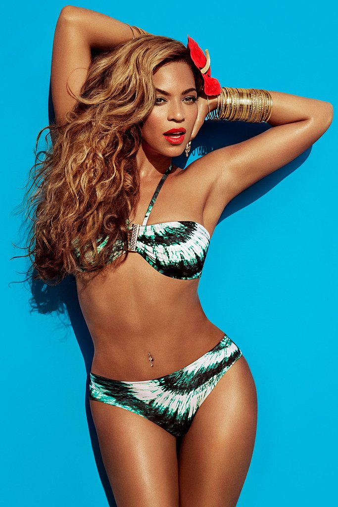 H&M revealed the sexy bikini shots of Beyoncé from the brand's new Summer campaign in April, after shooting the ads during a trip to the Bahamas in January.  Photo courtesy of H&M
