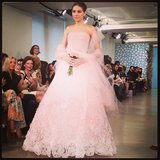 "This Oscar de la Renta dress gave the term ""blushing bride"" a whole new meaning."