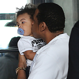 Beyonce and Jay-Z With Blue in Paris
