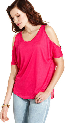 Tee By Big Star Top, Short-Sleeve Cutout-Shoulder Tee