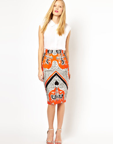 ASOS Wiggle Skirt in Baroque Print