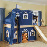 Let him rule his room with a castle bed ($1,300). He can flee to his slumber or use the lower loft as a cozy retreat. Best part? The slide!