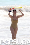 She hit the waves in a barely there swimsuit while vacationing in St. Barts in January 2007.