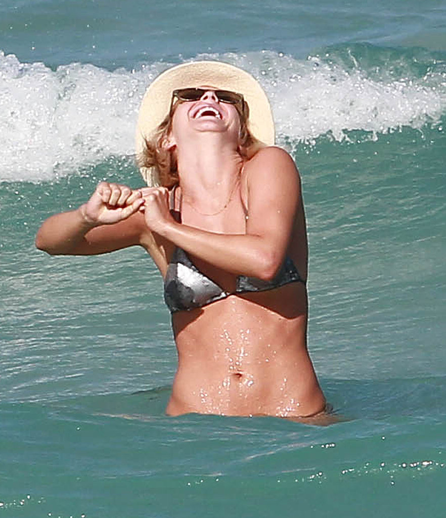 Julianne Hough laughed while in the water in Miami.