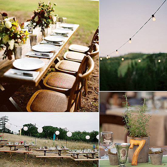 POPSUGAR Home is highlighting their favorite outdoor wedding entertaining ideas, covering everything from tabletops to trees.