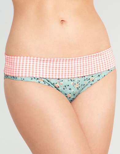 Midnight Grace by figleaves.com Flower Garden Fold Bikini Brief