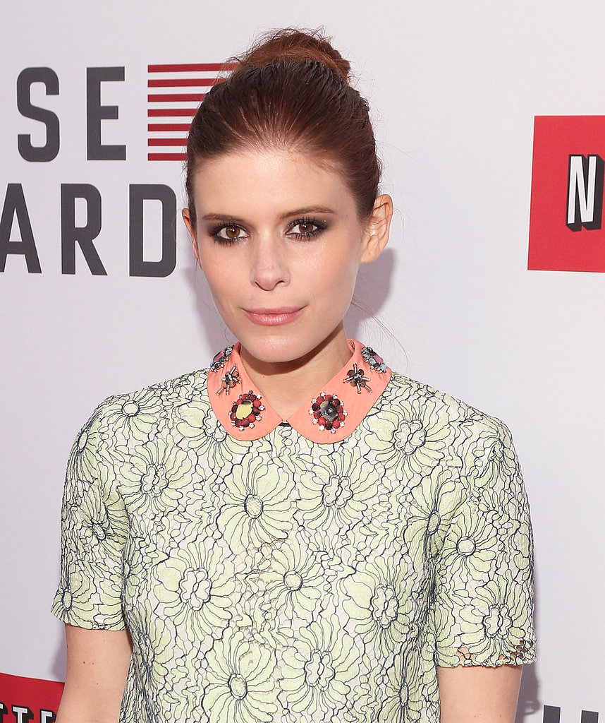 Kate Mara's topknot and sexy smoky