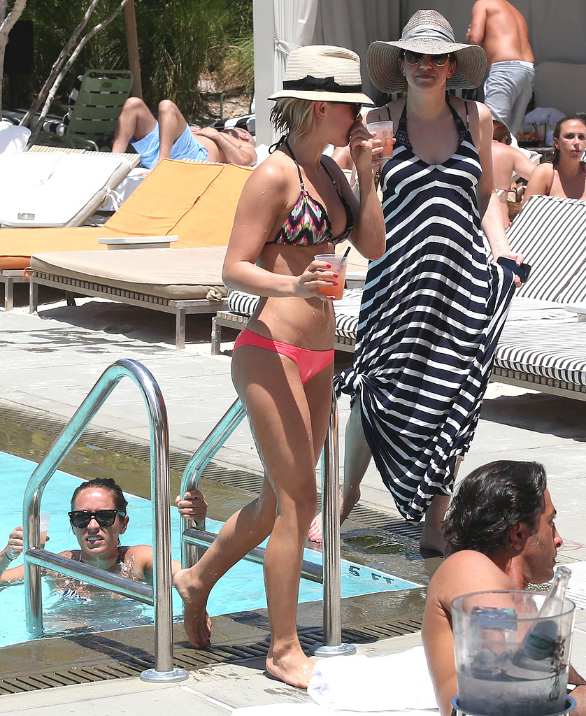 Julianne Hough wore a bright bikini in March 2013 during a girls' trip to Miami.