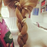 This braid within a braid is simple but fun. Source: Instagram user brook_amber_reid
