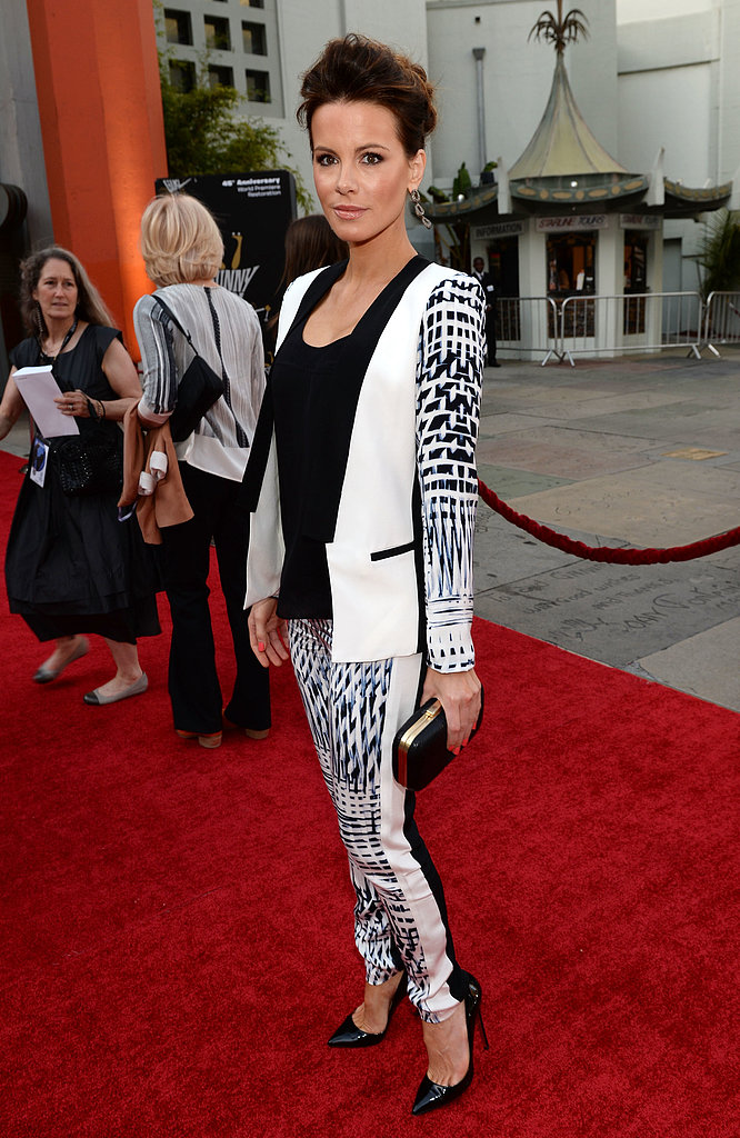 We loved seeing Kate Beckinsale on the red carpet in a fresh printed suit for the TCM Classic Film Festival opening.
